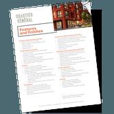 Prével's Quartier Général Features and Finishes sheet