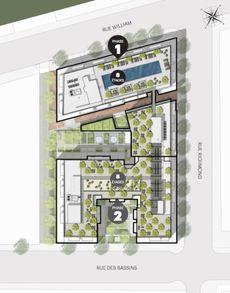 Plan d'ensemble du projet Quartier Général de Prével