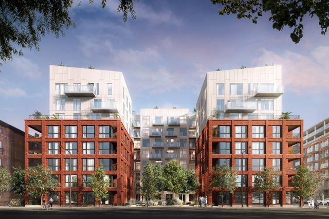 Vue de face de la phase 2 du projet Quartier Général par Prével