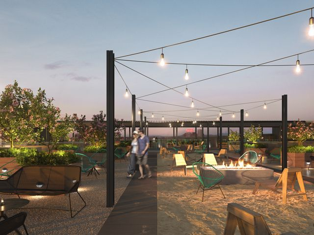 Beach Rooftop of quartier general condo project in griffintown west