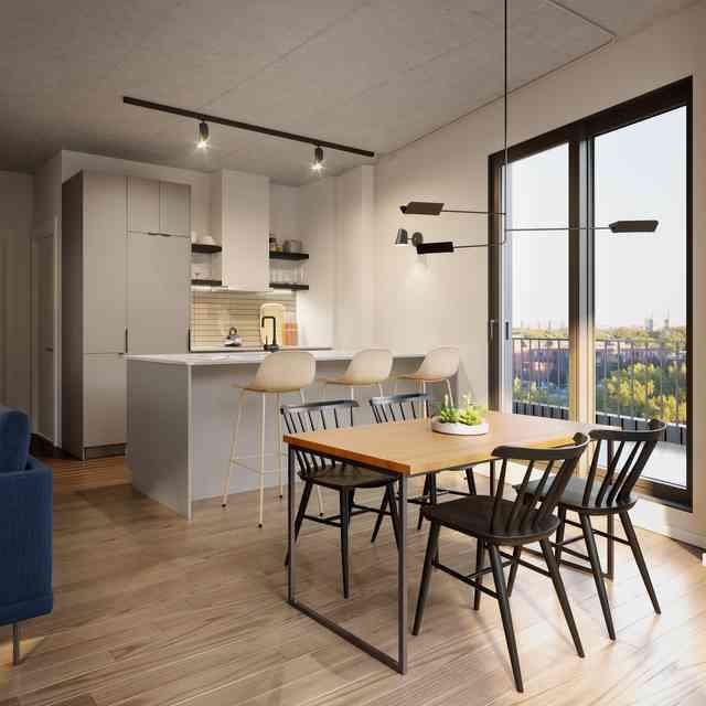 Open kitchen of Quartier Général project